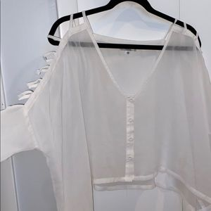 White sheer LF sheer top